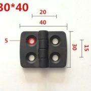 22HIPL30X40_SCH 2020 Plastic Hinge 30mm x 40mm Schematic
