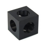 2VCECUALBL Openbuilds type V-Slot Tri-Corner connector cube