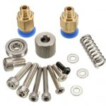 3D.BO.AM.xH.O1 3D.BO.AM.RH.O1 All Metal Bowden Feeder includes Steel Bracket, Misc parts nuts bolts idlers etc as supplied with both Left and Right versions