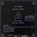 3D.HB.MK3.BL.A214214003 3D Printing MK3 Aluminium 12V 24V Heat Bed 214mm x 214mm x 3mm