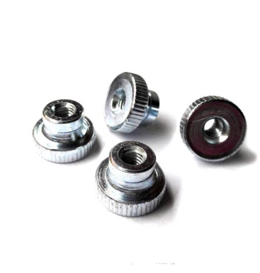 Nut Knurled Thumb M4 (Zinc plated)